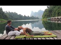 Advanced Thai Yoga Massage with the Feet with Ralf Marzen - YouTube