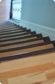 WWW.cleverlyinspired.com Refinishing stairs and changing pickets tutorial