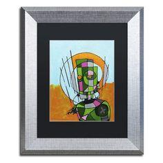 "Trademark Art 'Segmented Man II' by Craig Snodgrass Framed Painting Print Size: 20"" H x 16"" W x 0.5"" D, Matte Color: White"