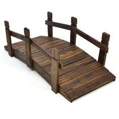 Nexos kleine Holzbrücke Teichbrücke Teich Garten Holz Deko Brücke mit Geländer braun: Amazon.de: Garten http://amzn.to/2r18jO9