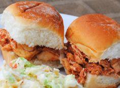 Pulled BBQ Chicken Sliders Recipe