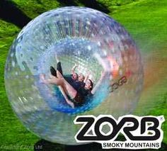 Ride the Zorb in Pigeon Forge, Tennessee