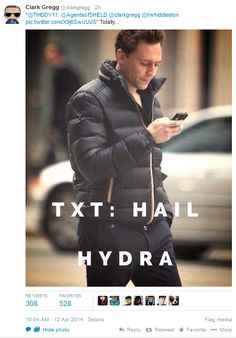 OH NO! Not Tom Hiddleston too! <-- I love that Clark Gregg was the one that posted/tweeted this. :)