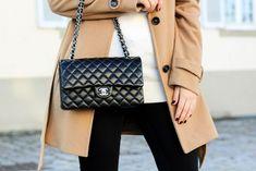 Chanel Medium Flap Camel-Coat Outfit Fashionblog Dress & Travel