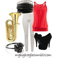the tuba really makes the outfit Sousaphone, High Fashion, Fashion Tips, Kinds Of Music, Pretty Good, Music Lovers, Geeks, Style Me, Geek Stuff