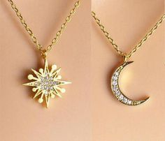 8ad6780300c3 Paved Starburst Necklace gold silver rose gold Sun necklace  goldnecklace