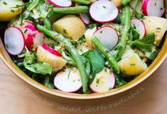 Bez Papriky: Spring salad with radishes/Jarní bramborový salát s ředkvičkami Caprese Salad, Cobb Salad, Spring Salad, Food, Eten, Meals, Diet