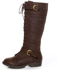 Wanted Pioneer Brown Lace-Up Knee High Boots - $75.00 ($50-100) - Svpply