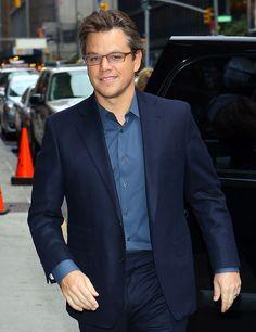 Pictures and Video of Matt Damon on David Letterman 10/12/2010 | POPSUGAR Celebrity