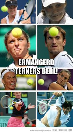 funny tennis player weird faces. Someone take a pic of me next time. I'm sure its hilarious...
