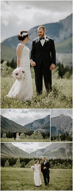 Rachel & Beaudan - Cornerstone Theatre Wedding in Canmore Wedding Groom, Wedding Couples, Wedding Ceremony, Wedding Photos, Wedding Ideas, Park Weddings, Wedding Events, Quarry Lake, Theatre Wedding