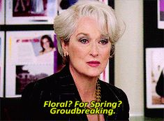 I'm glad Miranda Priestly agrees with me - as much as i love the flower headband boho chic is soo overdone