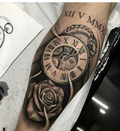 Tatuagem baby tattoos, new tattoos, time tattoos, tattoos for guys, body . Baby Tattoos, Rose Tattoos, Body Art Tattoos, Tribal Tattoos, Clock Tattoos, Clock Tattoo Sleeve, Arm Tattoos For Women, Tattoo Designs For Women, Tattoos For Guys