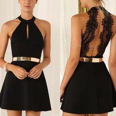 Flutter Noir Dress
