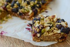 Oatmeal Superfood Breakfast Bars Recipe with Amy Stafford at www.ahealthylifeforme.com