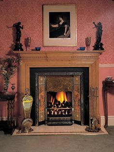 art nouveau fireplace - Google Search