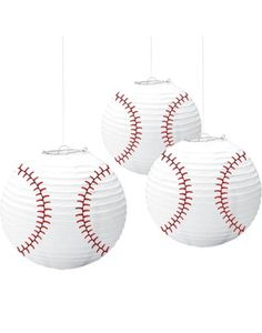 Baseball Paper Lanterns - Party City  3 for $6