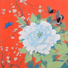 모란도 - Google Search Korean Art, Asian Art, Watercolor Flowers, Watercolor Art, Chinese Festival, Traditional Paintings, Chinese Painting, Botanical Art, Chinoiserie