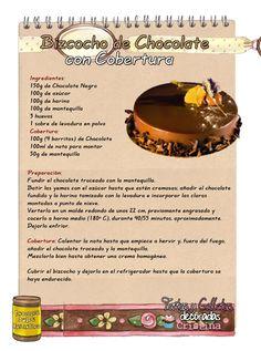 Tartas, Galletas Decoradas y Cupcakes: Bizcocho de Chocolate con Cobertura