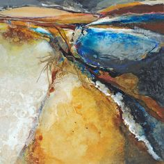 Oasis | Mixed media painting by abstract artist Lesley Clarke