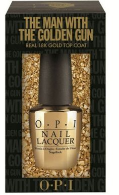 OPI to launch James Bond nail polish with gold leaf top coat! It's awesome !!