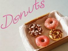 Donuts ▪ Tutorial Fimo ▪ Polymer Clay miniature food