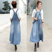 Бесплатная доставка 2014 новинка джинс рукавов цельный платье для женщин джинсы длиной макси платья с большой подол лето осень