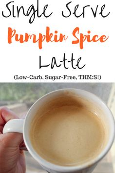 """My THM friendly Pumpkin Spice Latte is the perfect thing to whip up if you're in the mood for something """"Fall""""."""
