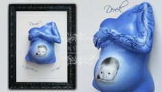 Pregnant belly cast with hand and painting BeAuTiFuL!!!!!