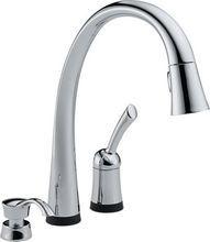 Delta 980T-SD-DST Pilar Diamond™ Series 1-Handle Pull-Down Spray Kitchen Faucet.