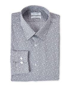 Calvin Klein Granite Print Slim Fit Dress Shirt