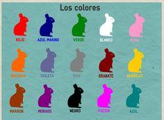 Colores ~ kleuren in het Spaans: Meer leren over kleuren en de uitspraak klik hier!