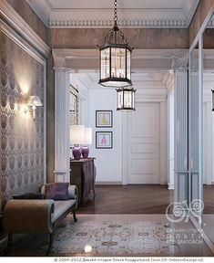 3D дизайн интерьера прихожей в загородном доме - http://www.ok-interiordesign.ru/ph26_design-interyera-prihozhey.php