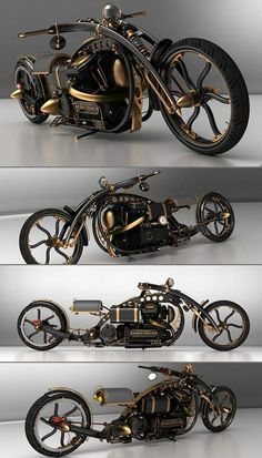 Steampunk Motorcycle:
