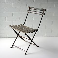 Childrens French Bistro Chair -Vintage Childrens Cafe Chair