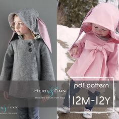 Chic Cocktail Swing Coat pattern and tutorial 12m - 12y holiday jacket PDF