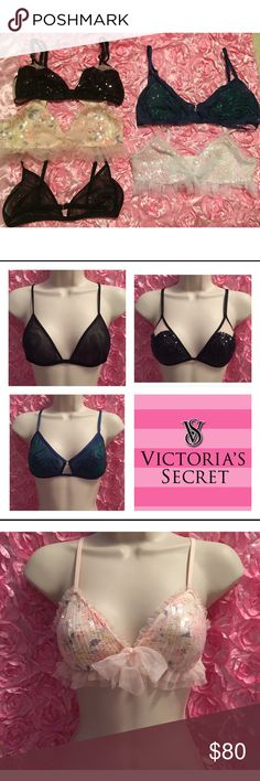 Bundle of Victoria's Secret Bling Bras (5) All New with Tags! Gorgeous!!! Size Small Victoria's Secret Intimates & Sleepwear Bras