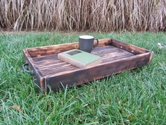 SALE Wood Serving Tray Made From Reclaimed by ReclaimedInterior, $49.00