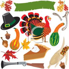 iCLIPART - Royalty Free Clipart Image of a Thanksgiving Background
