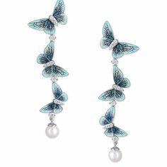 New summer butterflies by Ilgiz F #enamel #earrings #jeweleryart