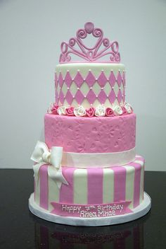 BC4028 - pink princess cake by www.fortheloveofcake.ca, via Flickr