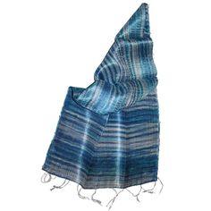 Silk Scarf Yakshima Blue