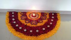 my art Simple Rangoli Designs Images, Rangoli Designs Flower, Rangoli Ideas, Rangoli Designs Diwali, Diwali Rangoli, Flower Rangoli, Beautiful Rangoli Designs, Flower Mandala, Flower Art