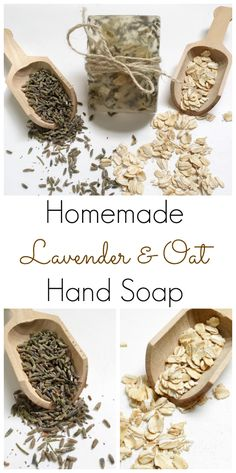 DIY Lavender & Oat Hand Soap: The recipe for this DIY hand soap could not be easier.