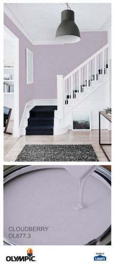 Olympic paint 2017 Color of the Year Cloudberry Ainsley's Room Purple Paint Colors, Wall Paint Colors, Bedroom Paint Colors, Paint Colors For Home, House Colors, Purple Wall Paint, Bedroom Wall, Bedroom Decor, Color Of The Year 2017