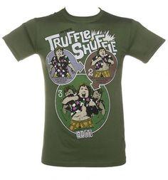 Men's Khaki How To Do The Truffle Shuffle Goonies T-Shirt    If you remember the Goonies you will remember Chunk's Truffle Shuffle!!
