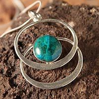 Chrysocolla pendant necklace, 'Cuddle Me Green' by NOVICA