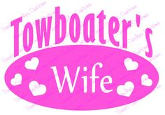 Towboater's Wife Car Decal - pinned by pin4etsy.com