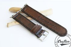 Watch Strap,Watch Band 22mm,Watch leather strap,Gift for husband,Smart Watch,Gift for Man,3th Anniversary,Gift for Men,Apple  This watch strap is handmade and personalizabl... #apple #22mm #personalized
