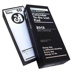 To do list / 2012 calendar notebook